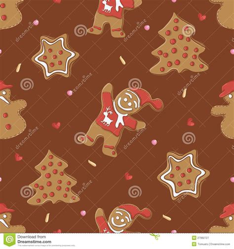 gingerbread christmas tree pattern gingerbread seamless pattern for christmas royalty free