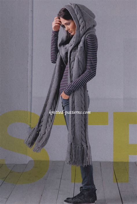 how to knit a hooded scarf knitted scarf free pattern lots of gorgeous ideas