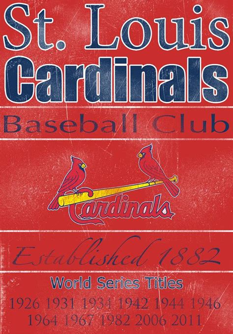 st louis cardinals wall decor st louis cardinals vintage wall banner on real by