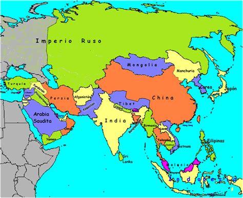 asia y africa mapa paise continente asiatico mapa