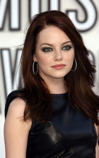 emma stone with black hair 17 best images about hair on pinterest jennifer aniston