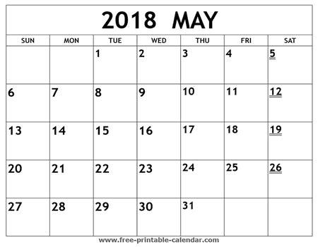 Calendar 2018 Printouts May 2018 Printable Calendar Printable Weekly Calendar
