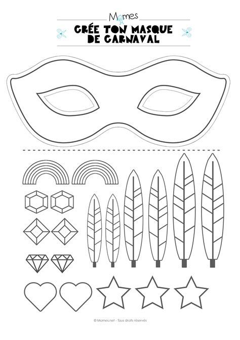 Kit Pour Faire Un Masque De Carnaval Momes Net