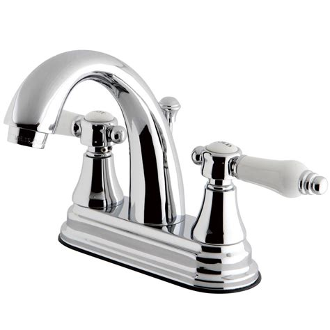 kingston bathroom sink faucets kingston brass porcelain 4 in centerset 2 handle
