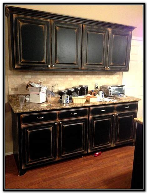 diy black kitchen cabinets black and white distressed cabinets home design ideas