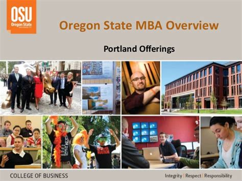 Oregon State Mba Tuition by Oregon State Mba Portland Programs Overview