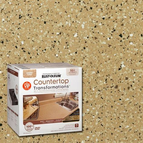 home transformations rust oleum transformations 70 oz desert sand large countertop kit 258286 the home depot