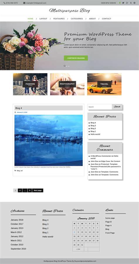 multipurpose blog wordpress theme  bloggers  today