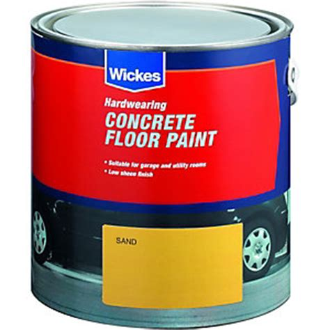 Garage Floor Paint At Wickes Wickes Concrete Floor Paint Sand 2 5l Deal At Wickes