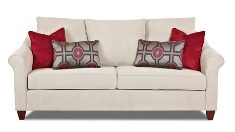 diego sofa klaussner diego transitional sofa with tapered legs and