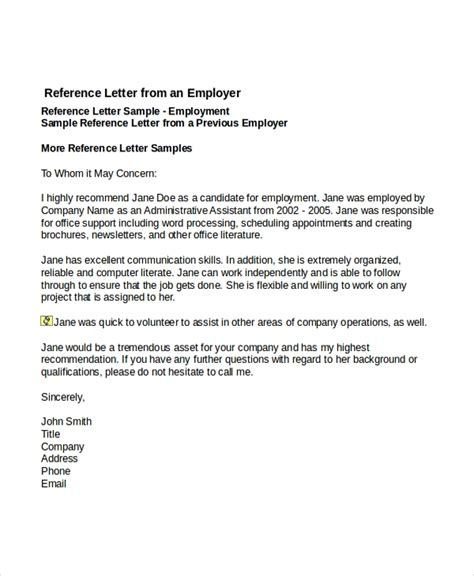 Job Reference Templates Free Reference Letter Template Business Plan Template