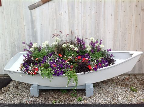 wooden boat planter container gardening carolyn s shade gardens