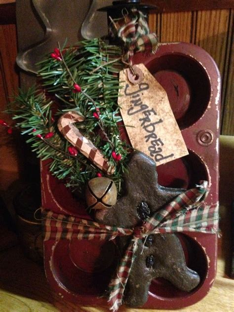 primitive christmas crafts to make primitive farmhouse on muffin tin primitives ebay and craft