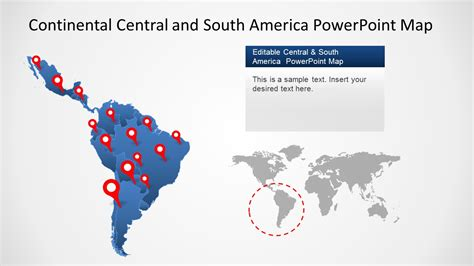 america map for powerpoint continental america powerpoint map slidemodel