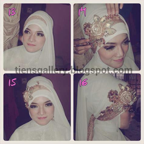 tutorial hijab pengantin akad cara memakai jilbab pengantin syar i cara memakai jilbab