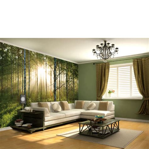 mural mural on the wall forest wall mural iwoot