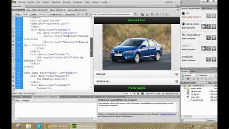 tutorial dreamweaver cs6 español gratis como crear aplicaciones para android muy facilmente