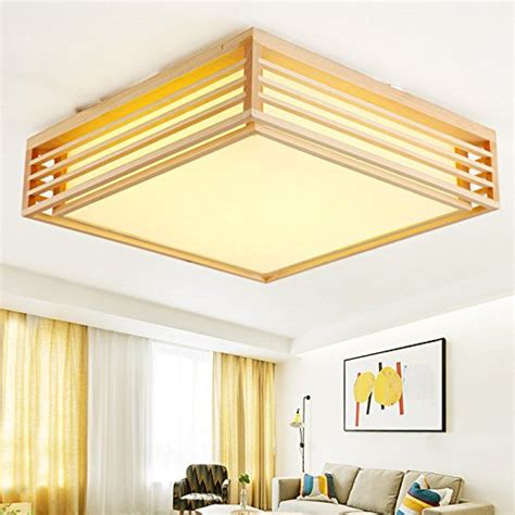 Japanese Ceiling L gqlb solid wood square ceiling light japanese straw tatami mats light bedroom ceiling light