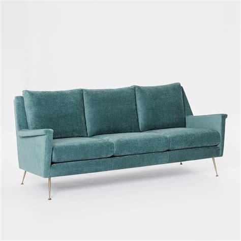 mid century velvet sofa carlo mid century sofa 197 cm dusty teal worn velvet