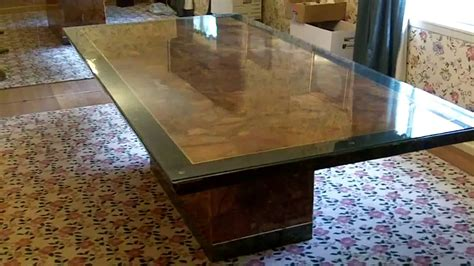 Solid Marble Dining Table 4x8 W Emerald Border