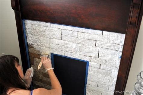 Faux Wall Painting Ideas - creating a faux fireplace airstone tutorial