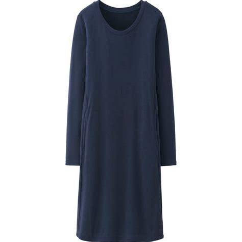 Uniqlo Sweatshirt Vintage Sweater 1 uniqlo heattech lounge dress in blue navy lyst