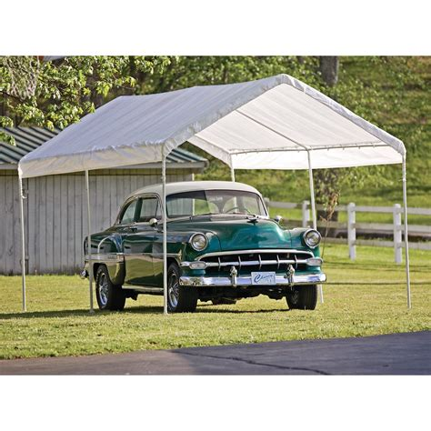 Car Port Canopies by Shelterlogic 10 X 20 Ft Deluxe All Purpose Canopy Carport