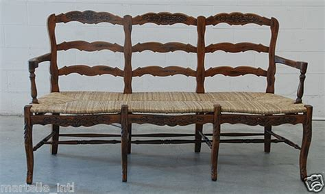 french country bench rush seat french country bench solid mahogany rush seat hand carved