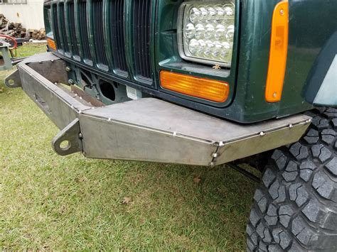homemade jeep bumper plans jcr diy bumper jeep cherokee forum