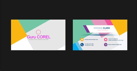 template id card corel draw template id card keren format coreldraw guru corel