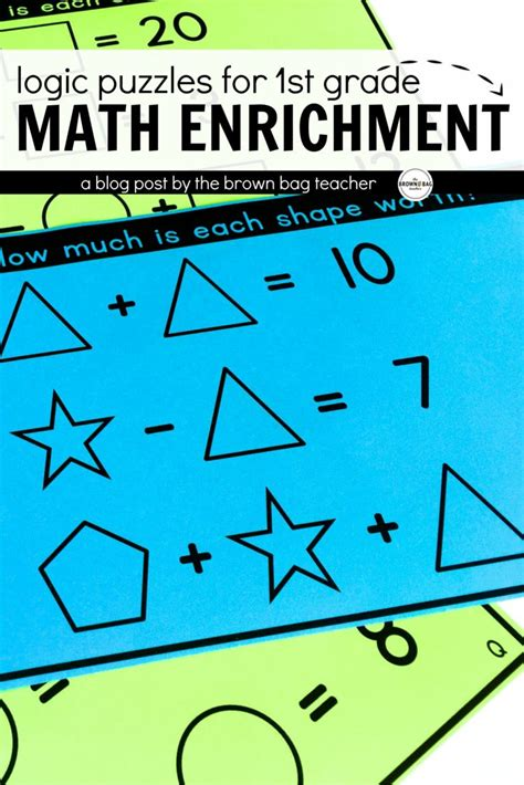 printable logic puzzles for 1st graders math logic puzzles set 1 1st 2nd grade math enrichment