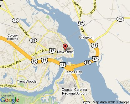map of new bern carolina new bern carolina