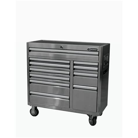 lowes kobalt tool cabinet shop kobalt 41 in x 41 in 11 drawer ball bearing stainless