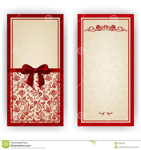 Elegant Vector Template For Luxury Invitation Stock Image Image 34967599 Card Vector Template