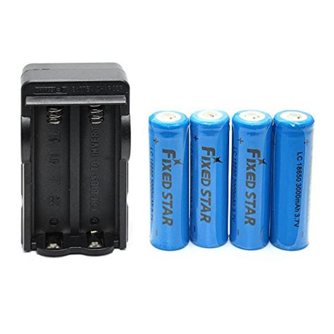 Hv9090 Rechargeable Battery For Led Flashlight 37v 6 Kode Bis9144 fixed 4 pcs 18650 3 7v 3000mah lithium rechargeable blue batteries with dual charger for