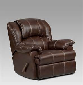Leather Recliner Chair Brown Brandon Brown Bonded Leather Rocker Recliner Brown