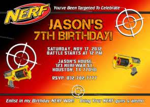 items similar to personalized nerf boy birthday invitation and thank you cards diy self