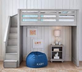 Barn Style Home Plans catalina stair loft bed pottery barn kids