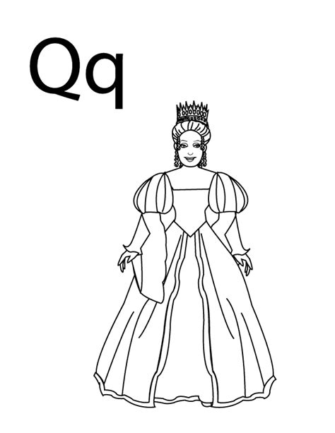 coloring pages of the queen queen coloring page coloring home