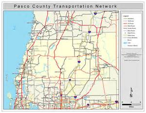 pasco county road network color 2009