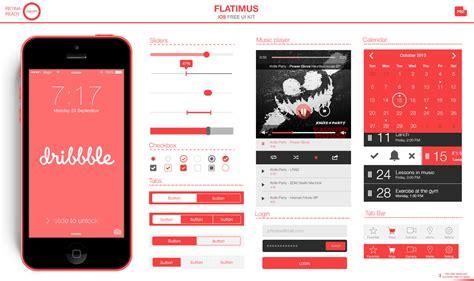 Flatimus Ios Free Ui Kit Uicloud Ios App Ui Templates