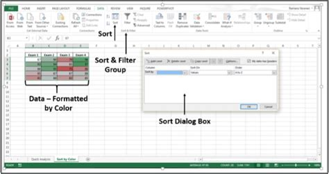 sort excel by color advanced excel sorting data by color