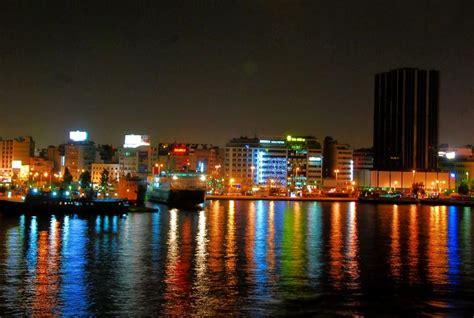 piraeus port  athens greece  night   ple flickr photo sharing
