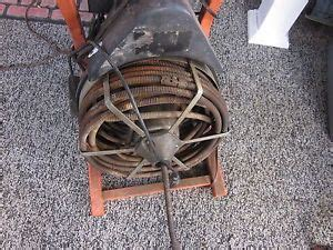 Used Plumbing Snake by Hydrostar Drain Cleaner Sewer Machine Auger 50 Of 1 2 Quot Cable 4 Bits On Popscreen