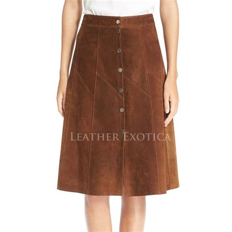 corporate look suede leather skirt