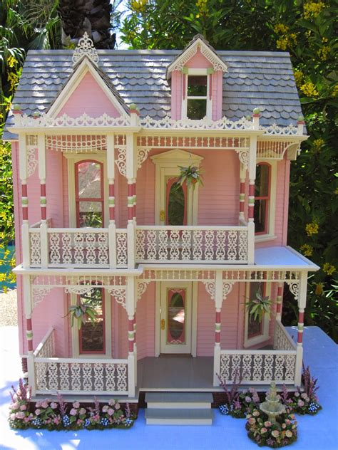 pink doll houses dollhouses by robin carey the elizabeth street victorian dollhouse