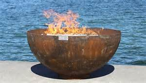Large Steel Fire Pit Bowl - big bowl o zen sculptural firebowl by john t unger metal fire pit artful home