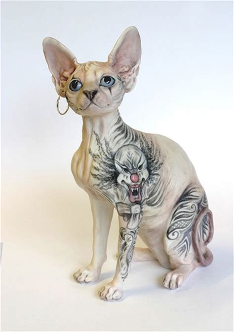 tattooed animals animal photo sphynx cat