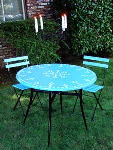mosaic garden table and 4 chairs