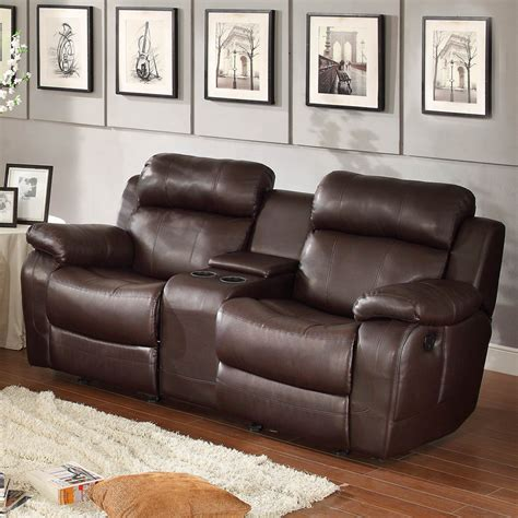 Brown Leather Recliner Sofa Set Homelegance Marille 3 Reclining Living Room Set In Brown Leather Beyond Stores